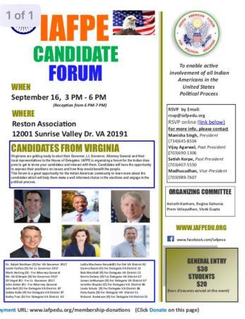 IAFPE Candidate Forum